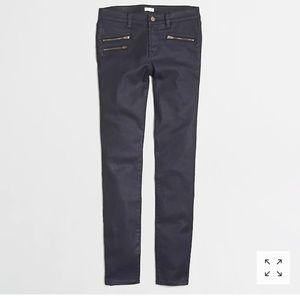 J. CREW NWT coated denim jeans